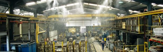 fogging for temperature reduction